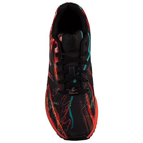 edf1ea27e pictures of adidas Men s ZX Flux Black Black Solar Red Mesh Running Shoes  11.5
