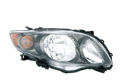 Vision Automotive TY10012B1R Toyota Corolla S/XRS Passenger Side Replacement Headlight Assembly (2009 Corolla S Headlight Assembly compare prices)