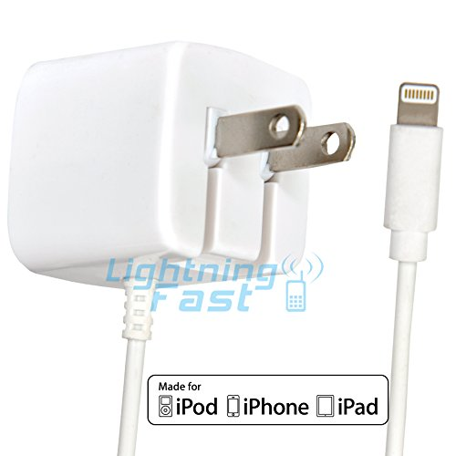 Click to buy Apple Certified iPhone Lightning Charger - Wall Plug - For iPhone 6S Plus 6 Plus 6 6S 5S 5 5C SE - Fold Away Pins - 2.1a Rapid Power - Put In Bag & Take On Travel - White - Lifetime Guarantee - From only $27.47