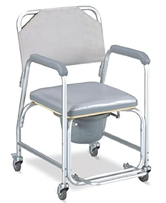 Amazon Shower chair with wheels padded seat mode