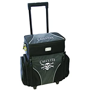 Calcutta CT3010WC Rolling Tackle Bag with Five Removable 360 Tackle Trays, Medium by Calcutta