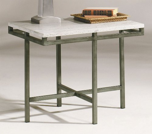 Image of East Park Rectangular End Table by Hammary - Gunmetal (T1014820-00) (T1014820-00)