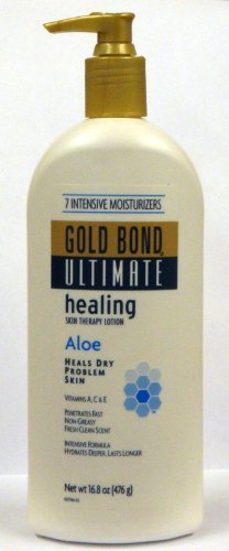 Gold Bond Ultimate Healing Skin Therapy Lotion with Aloe 16.8 Oz Pump Bottle (Pack of 2)
