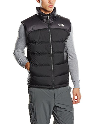 The North Face M Nuptse 2 Smanicato, Uomo, Nero (Jk3 Tnf), L