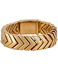 ANVI JEWELLERS 18CT GOLD AND RODIUM PLATED BRACELET AT SPECIAL PRICE - B016RKKFKQ