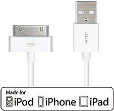 JETech® Apple Certifié Sync USB et câble de chargement pour iPhone 4/4S, iPhone 3G/3GS, iPad 1/2/3, iPod, tour, 1 mètres (1m-30Pin Blanc Tour Cable)