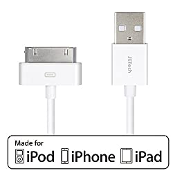 iPhone 4s Cable, JETech® APPLE CERTIFIED USB Sync and Charging Cable for iPhone 4/4S, iPhone 3G/3GS, iPad 1/2/3, iPod - 3.2 Feet 1 Meter - White