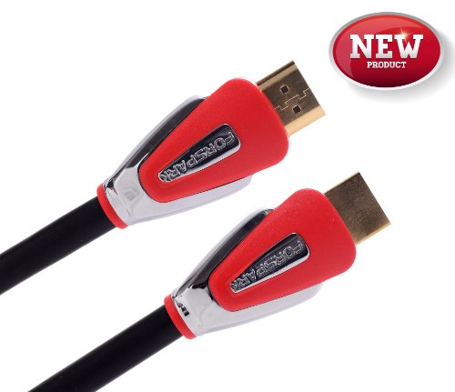 Forspark Hdmi Cable 5 Feet(1.5 Meters),Ultra High Speed Aurora Series,24Awg,Support Ethernet,Audio Return Channel,3D,4K,18Gbps,Good For Dell Asus Laptop,Cl3 Rated,Metal Red Case,Newest Standard [Hdmi Cable 2.0]