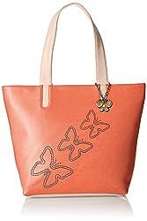 Butterflies Women's Handbag (Orange) (BNS 0589ORG)