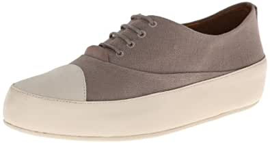 Fitflop Due Oxford Canvas Shoes - Mink Grey 4 UK