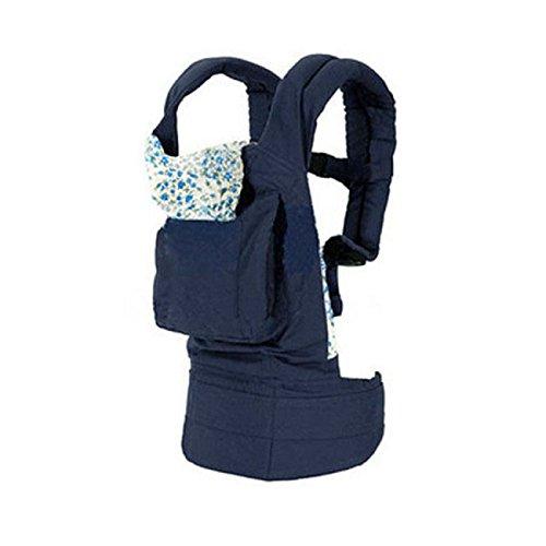 Doinshop New Fashion Popular On Sale New Cotton Baby Newborn Carrier Infant Comfort Backpack Sling Wrap (Blue) front-27824