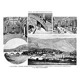 Grabado antiguo (1894) - Xilografía - Álava.- El Gran Balneario De Zuazo (23x32), Capuz