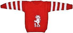 AKHIL & AARNA Baby Wool Sweater (AA-2016-0134, Red, 3-4 Years)