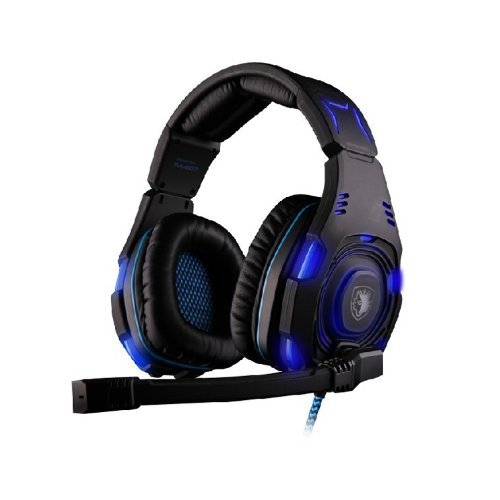 Sades Sa-907 Over-Ear Professional Stereo Headset Headband Pc Pro Wcg Games Headphones(Black)