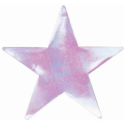 "Amscan Girls Fun Foil Star Five Pack Party Cutouts, 15"", Iridescent - 1"