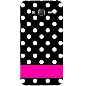 Casotec White Dots Pattern Design Hard Back Case Cover for Samsung Galaxy J5
