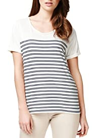 Autograph Scoop Neck Striped T-Shirt [T50-4063-S]