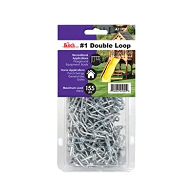 Koch A15902 No.1 by 20-Feet Double Loop Chain, Zinc Plated sourcing is Koch Industries