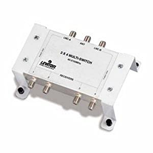 Leviton 3x4 Satellite Coaxial Multi-Switch