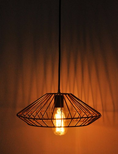 Logam Vintage Cage Gold Ceiling Light