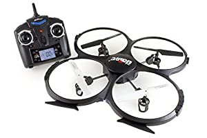 UDI RC U818A 2.4GHz 4 CH 6 Axis Gyro RC Quadcopter with RTF Mode 2 Camera