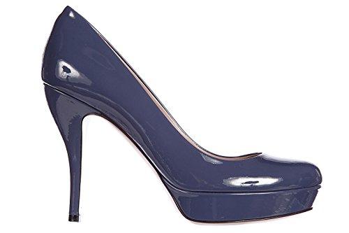 Gucci decolletes decoltè scarpe donna con tacco pelle crystall vernice blu EU 36.5 309999 BNC00 4233