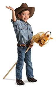 M And F Western Boys' Stick Pony With Sounds Tan One Size