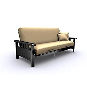 American Furniture Alliance Modern Loft Skyline Mission Full Futon Frame, Black