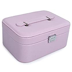 UberLyfe Double Level Jewellery Box cum Organizer - All Color (JB-000980-PUCAN-L_01)