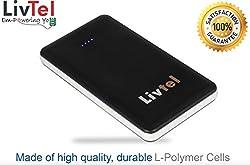 Livtel Liv-1008 Li-Polymer Power Bank (Black) with indicator, Flashlight, Dual charging ports and Reversible Micro-USB cable 10000 mAh