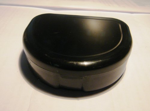 Black Dental Retainer Case Container Box For Dentures, Mouth Guard, Partial, Teeth, Invisalign Bands •