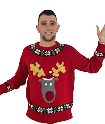 Christmas Jumper - Reggie X Red - S