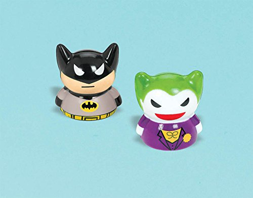 """Amscan Awesome Batman Finger Puppet Toy (1 Piece), Black/Gray, 1 1/2"""""""