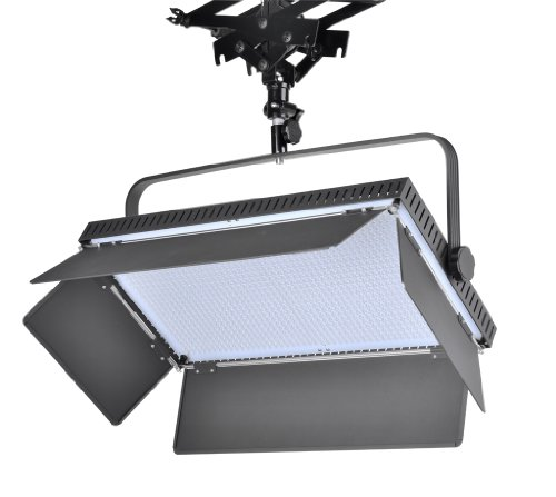 Iled 1260As Led Bi-Color Dimmable Video Light Panel With V-Mount Plate And Barndoors