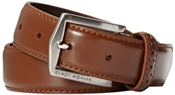 Stacy Adams Men\'s Big-Tall 30 mm Pinseal Leather with Pinhold Design On Keeper, Brown, 54