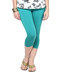 Castle Turquoise Knee Length Capri