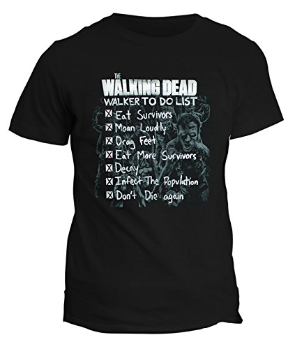 Tshirt Walking Dead zombie horro- serie tv telefim teschi- in cotone by Fashwork