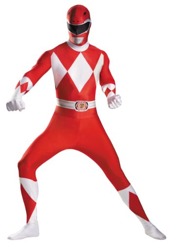 Disguise Mens Marvel Deluxe Red Power Ranger Bodysuit Theme Party Fancy Costume