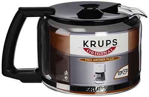 F03442 Glaskrug Espresso-/Kaffeemaschinenzubehör mit Deckel, 10 Tassen, schwarz