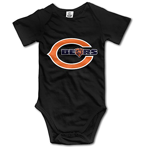 [Chicago Cool Bears POY-SAIN Infant Baby Romper Climb Cloth Size24 Months Black] (Chicago Bears Staley Costume)