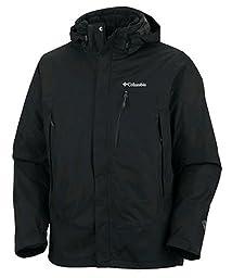 Columbia Men\'s Lhotse Mountain II Interchange Tall Jacket, Black, 3X Tall