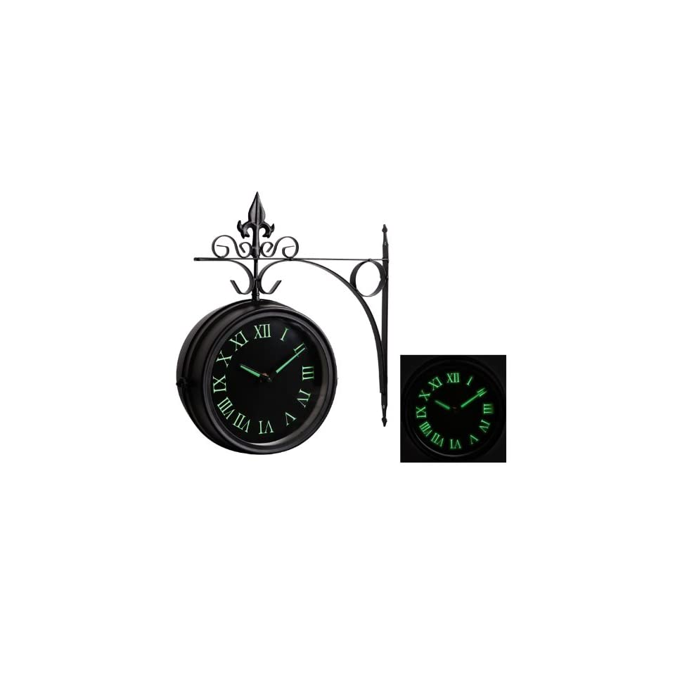 Glow In The Dark Double Sided Outdoor Clock 35cm (13.7
