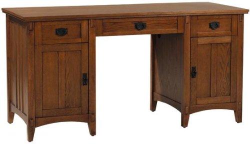 Artisan 2 Door Executive Desk 30 Hx60 Wx24 D Light Oak