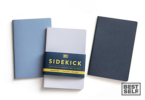 Sidekick: The Scratch Pad, Memo Pad, Dot Grid Note Pad That Can Easily Be Carried Anywhere (3 Pack) (Drawing Pad Small compare prices)