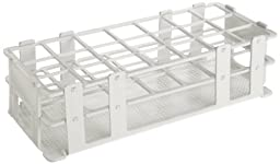 Bel-Art F18745-0004 No-Wire Test Tube Rack; 25-30mm, 21 Places, 9.7 x 4.1 x 2.5\