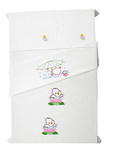 Baby Rap - Duck in the rain - 2 Cot Sheets & 2 Pillow Cases - White
