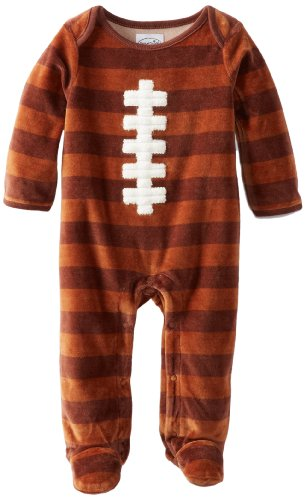 Mud Pie Baby-Boys Newborn Velour Football One Piece, Multi, 9-12 Months front-586602