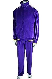 Irwin Purple Velour Tracksuit (X-Large)