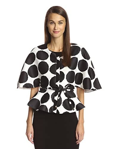 Gracia Women's Pixelated Polka Dot Cape Jacket