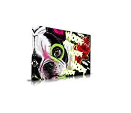 Maxwell Dickson ''French Bulldog'' Pop Art Canvas Art Print Artwork